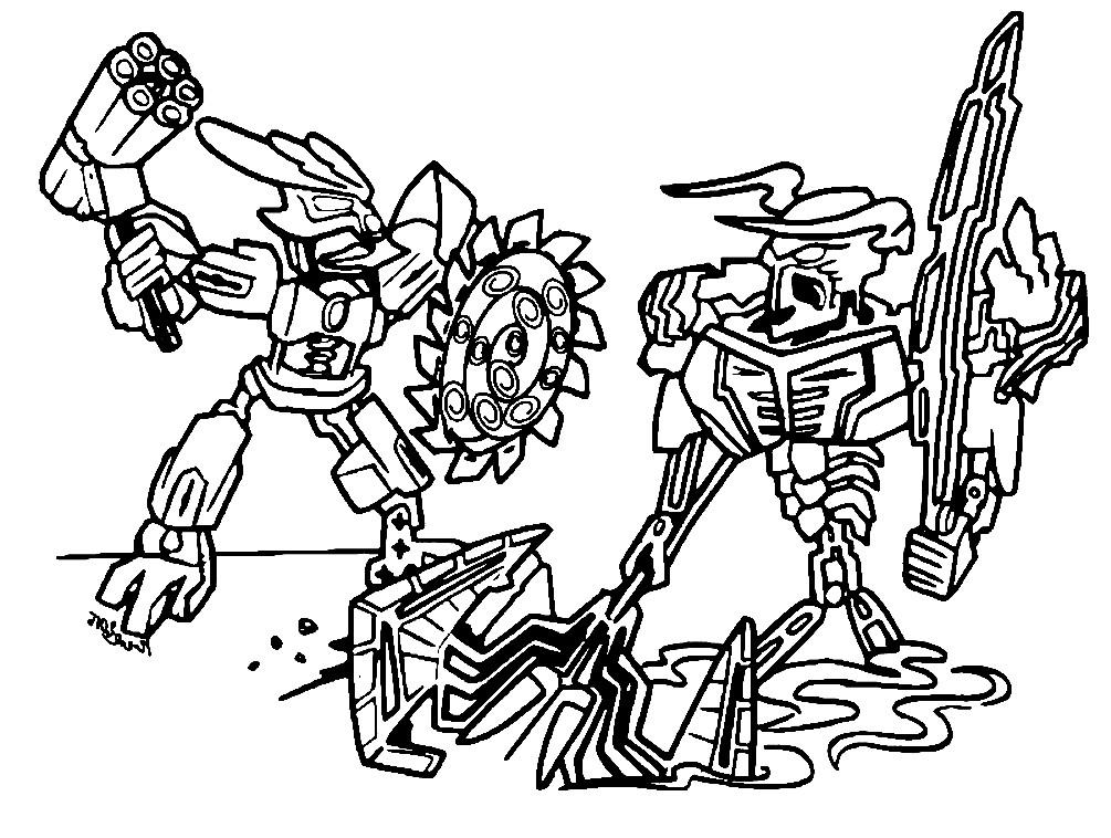 Раскраска сражение роботов