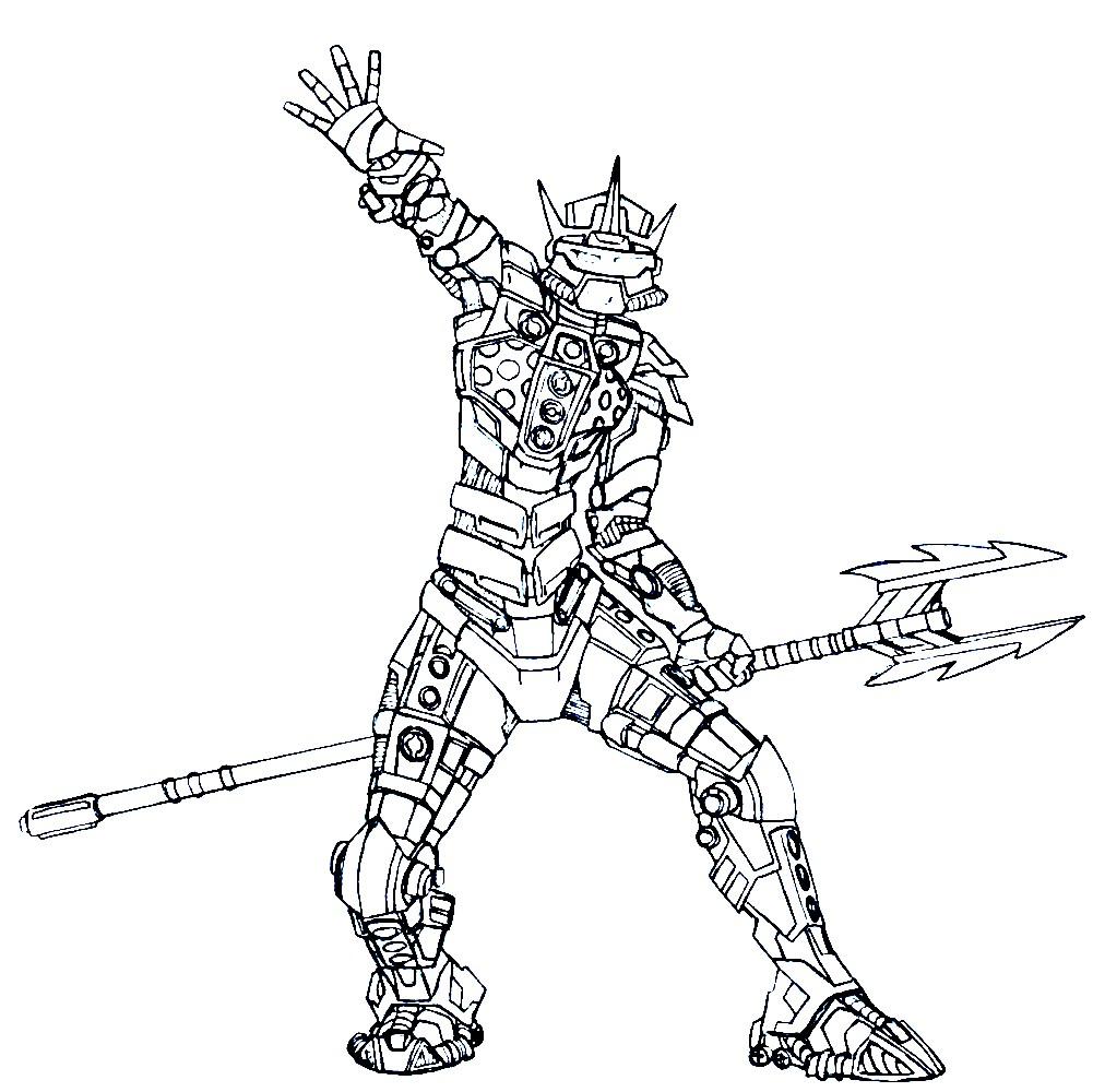 Раскраска персонаж Лего Бионикл