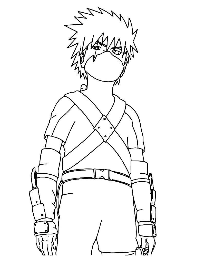 Раскраска ниндзя подросток — Наруто