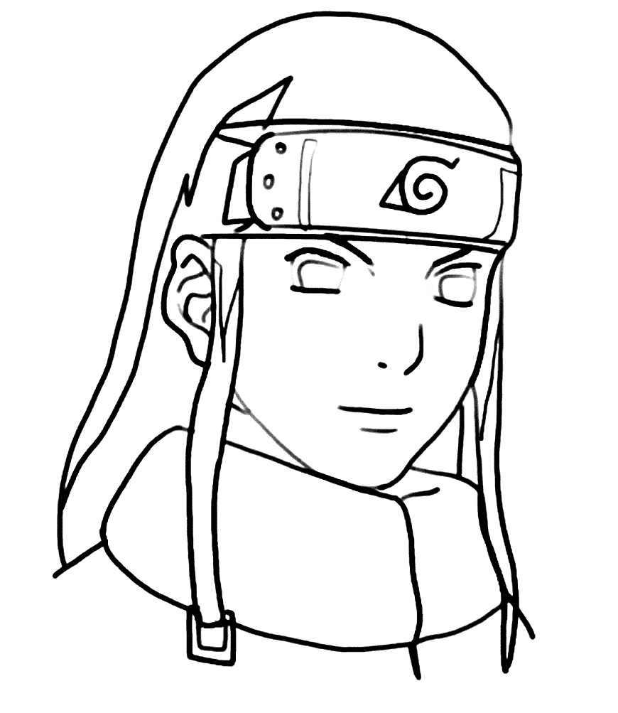 Раскраска персонаж из аниме — Наруто