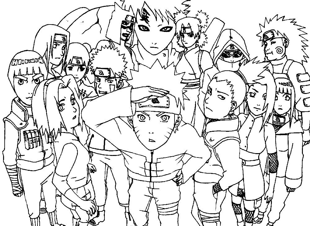 Раскраска персонажи из Наруто | Раскраски для детей ...