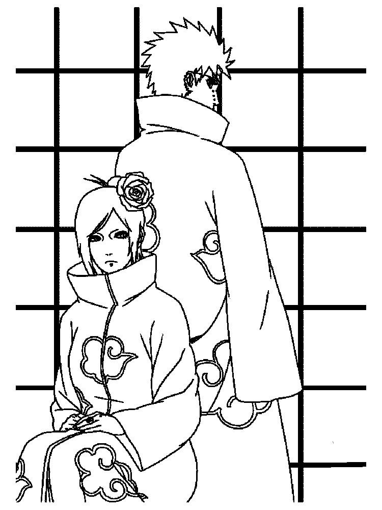 Раскраска взрослые герои Наруто