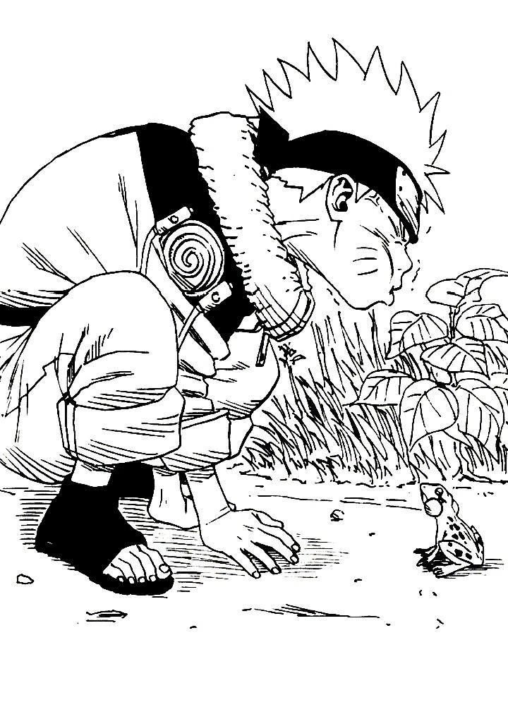 Раскраска герой Ниндзя Наруто