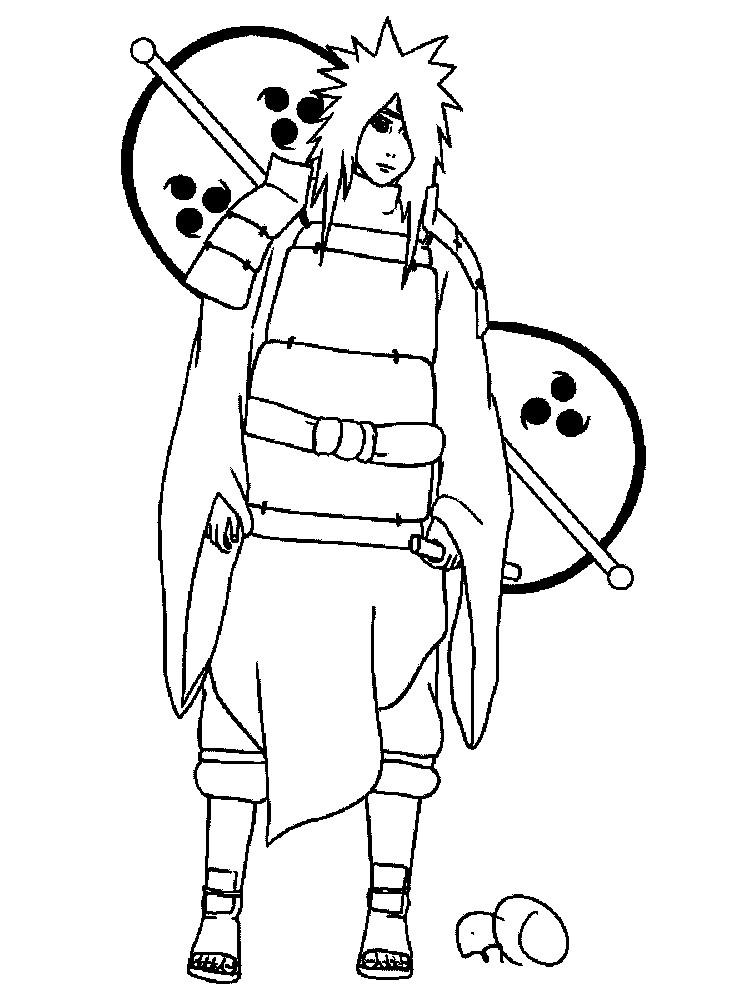 Раскраска Naruto