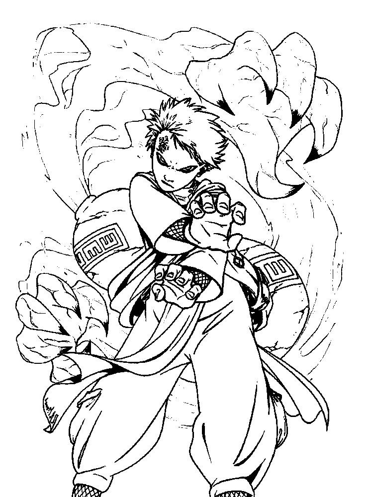 Раскраска Наруто — обладатель сверхспособностей
