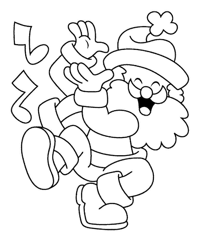 Раскраска гном Санта