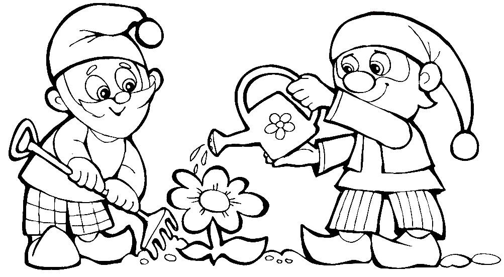 Гномики Картинки Раскраски Для Детей