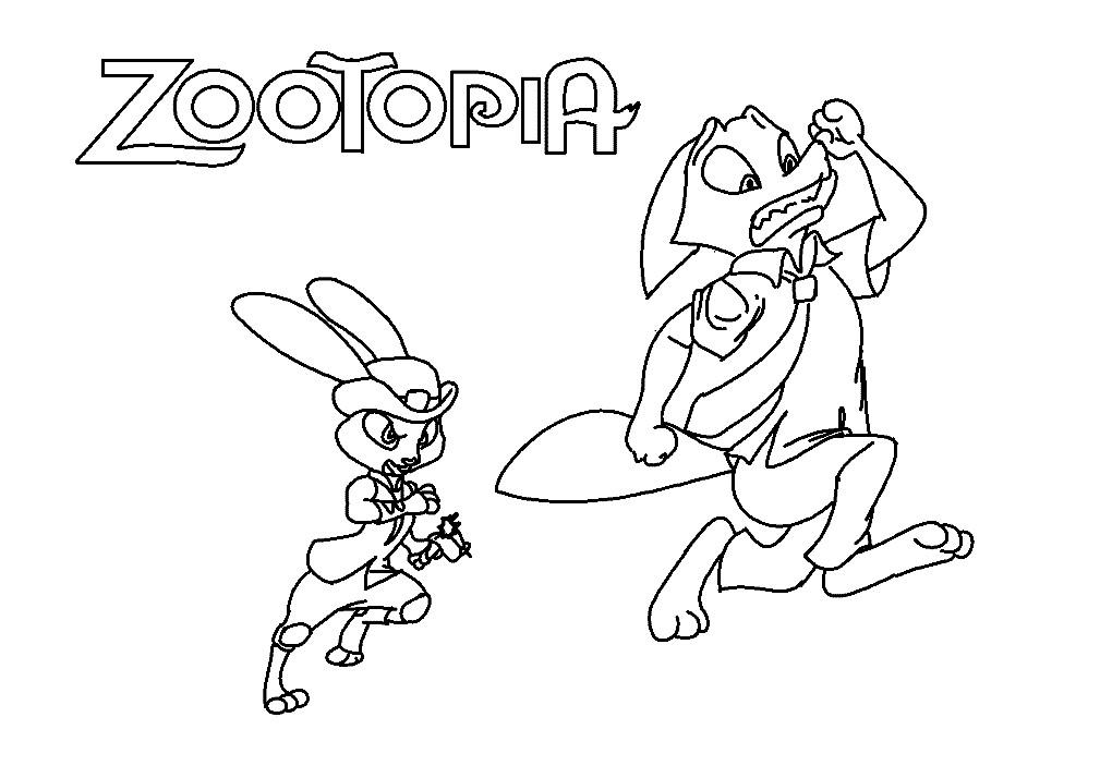 Раскраска Zootopia