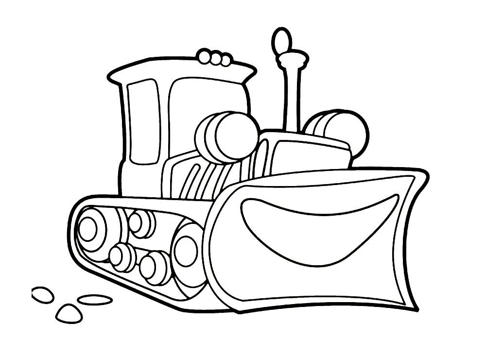 Раскраска веселый трактор