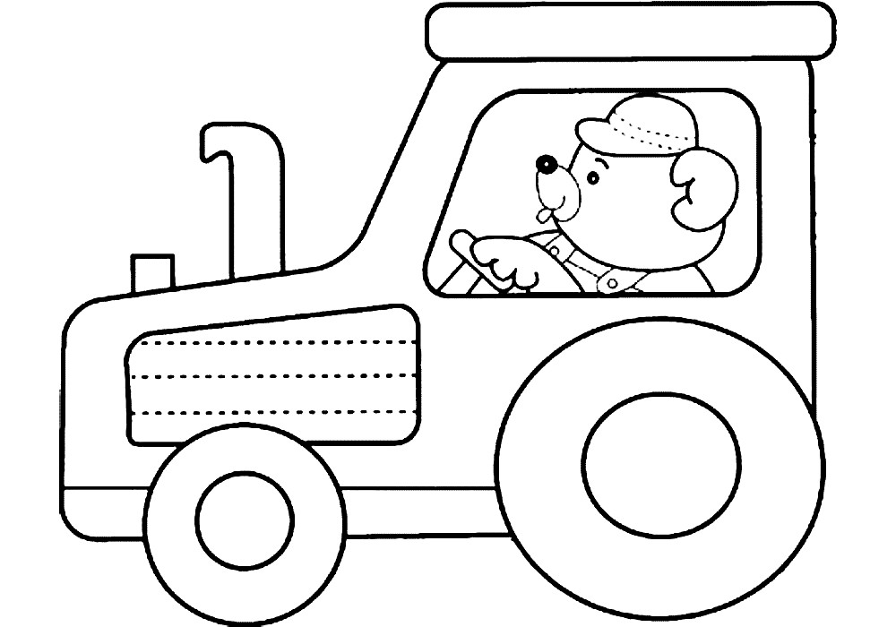 ТРАКТОР | Раскраски для детей распечатать бесплатно в ...