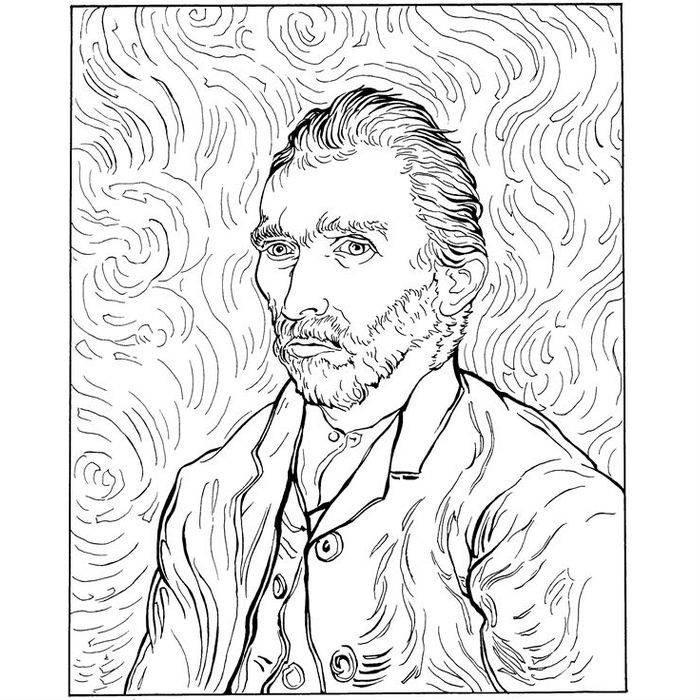 Раскраска Автопортрет (1889)
