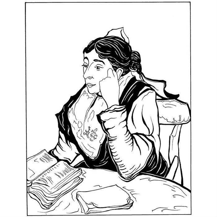 Раскраска Арлезианка мадам Жину (1888)