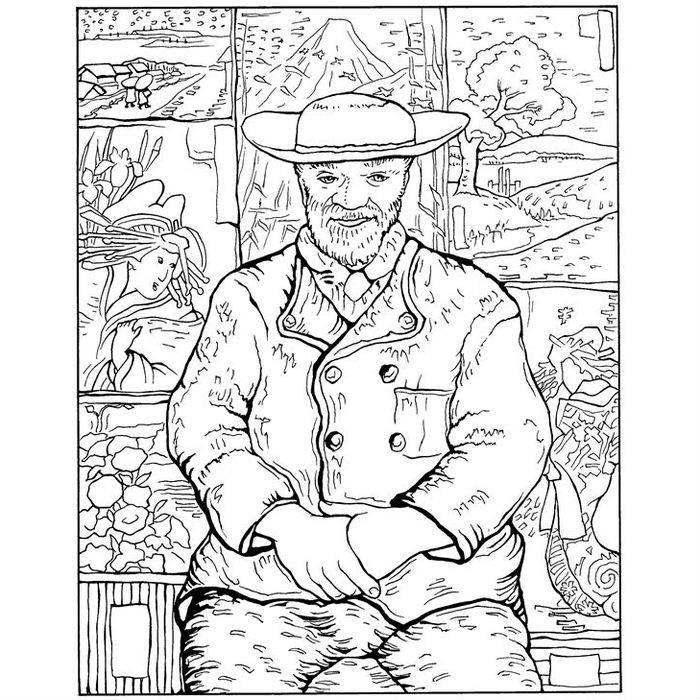 Раскраска Портрет Пере Танге (1887)