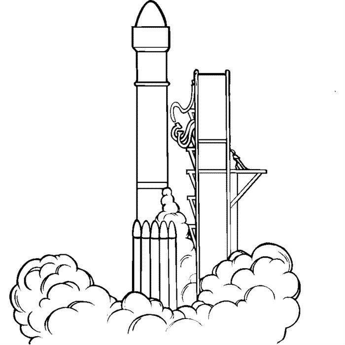 Раскраска запуск ракеты