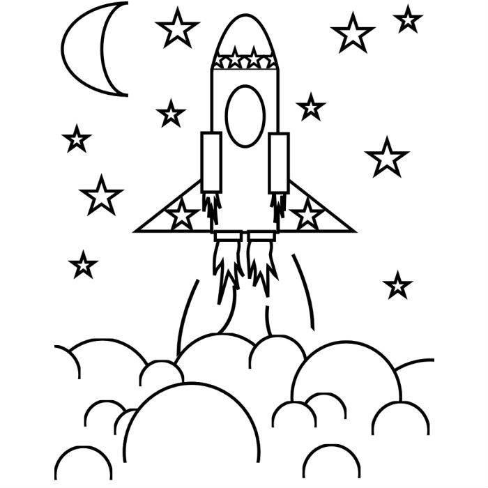 Раскраска ракета для детей