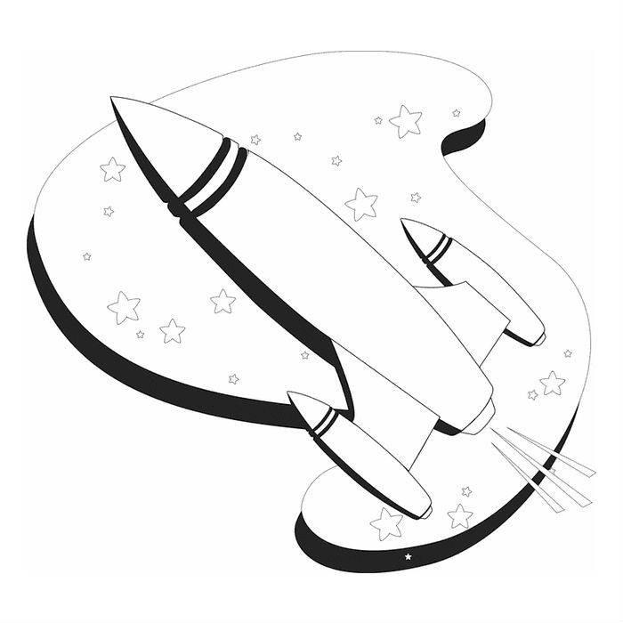 Раскраска полет ракеты