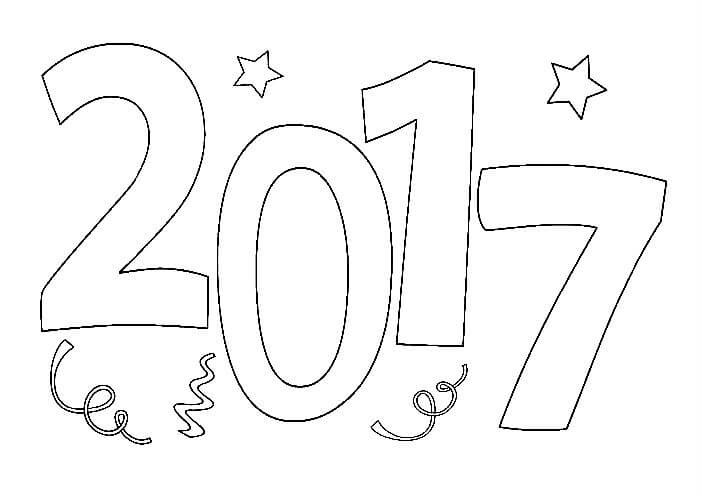 Раскраска 2017 год