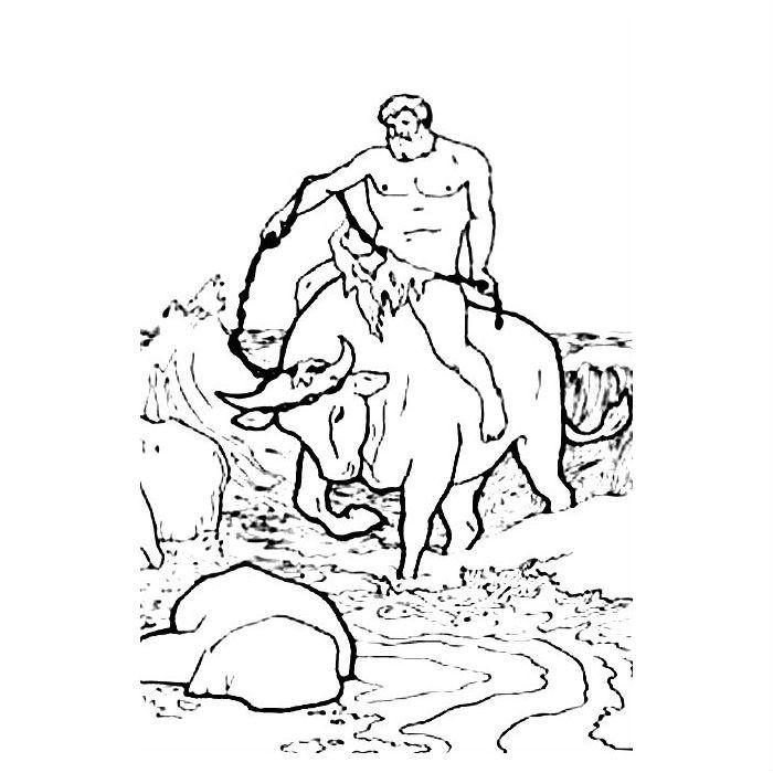Раскраска 12 подвигов Геракла — Критский бык