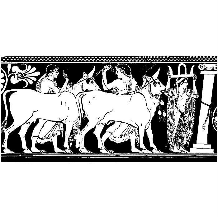 Раскраска 12 подвигов Геракла — стадо Гериона