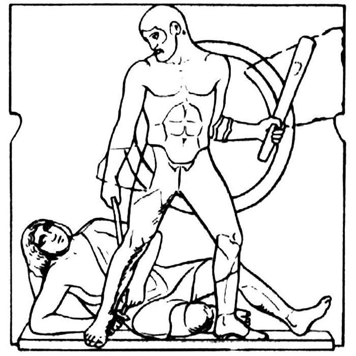 Раскраска 12 подвигов Геракла — пояс Ипполиты
