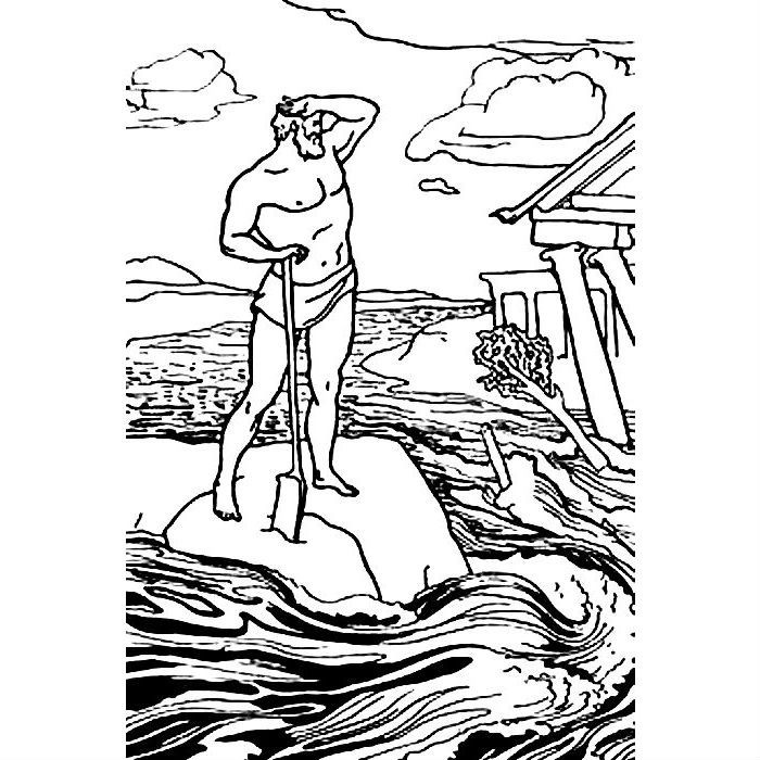 Раскраска 12 подвигов Геракла — Авгиевы конюшни