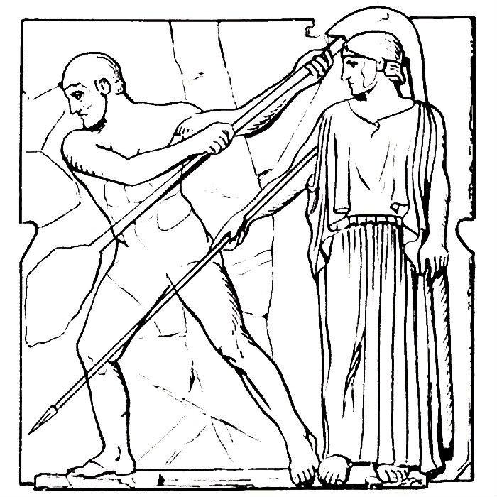 Раскраска Геракл и Авгиевы конюшни