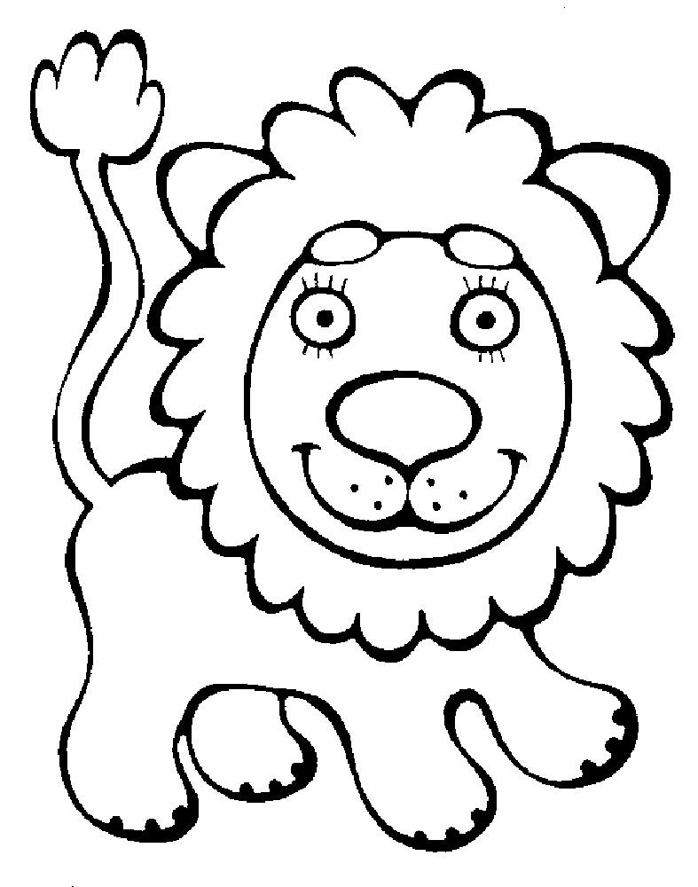 Раскраска лев для малышей | Раскраски для детей ...