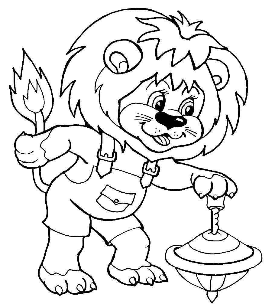 Раскраска львёнок