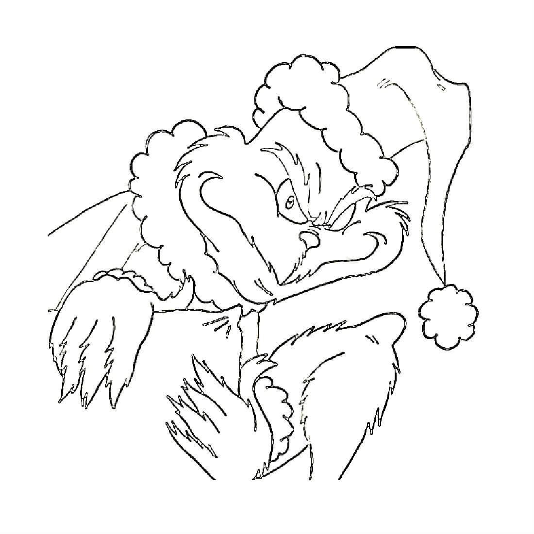 Раскраска ненавистник Рождества