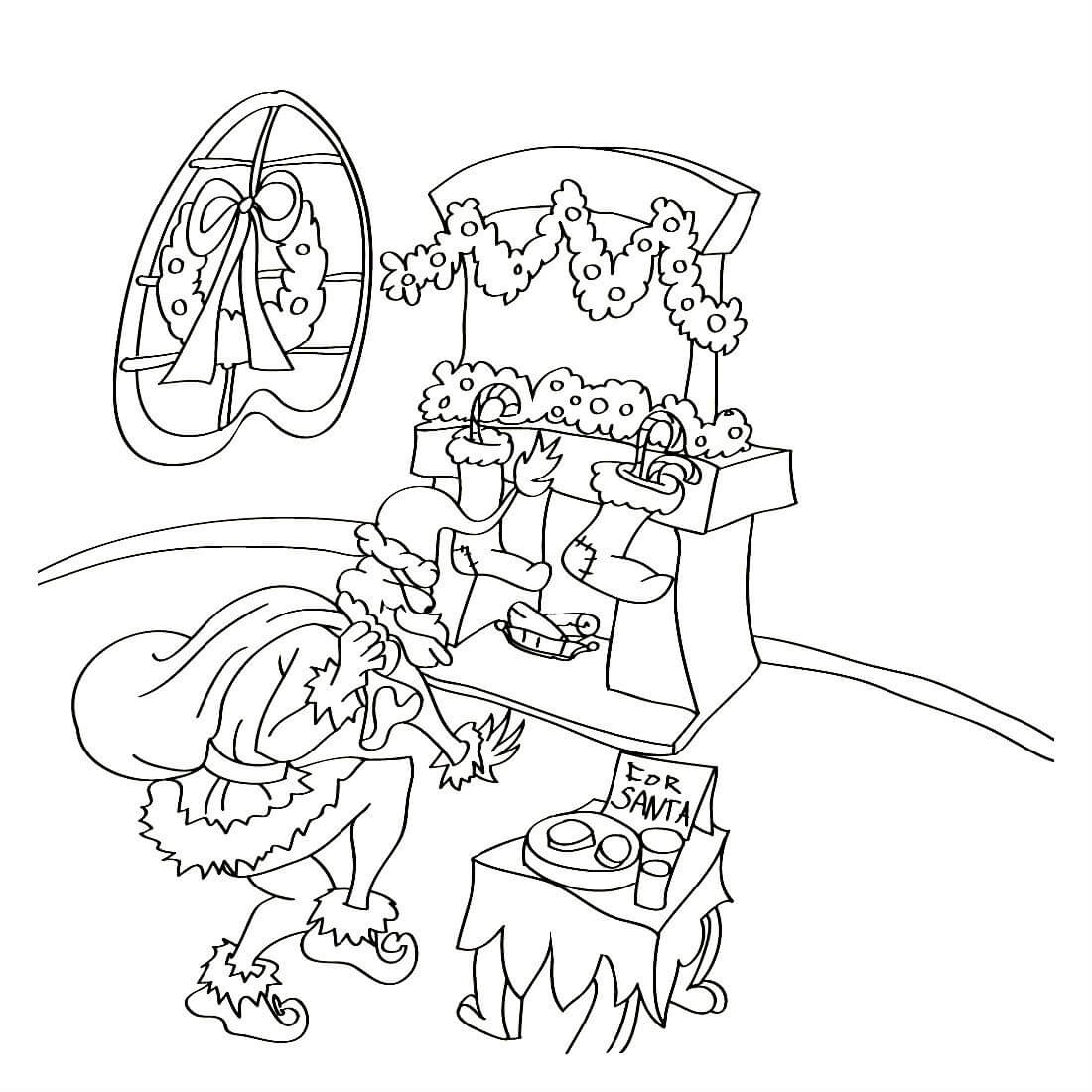 Раскраска Похищение Рождества