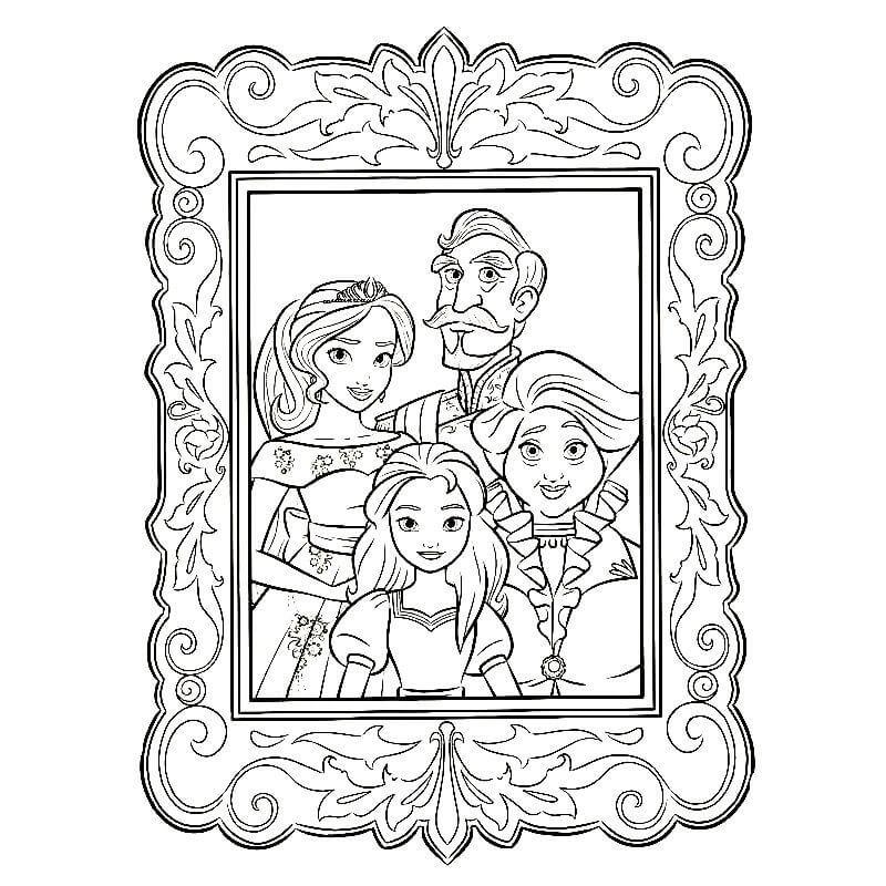 Раскраска семейный портрет