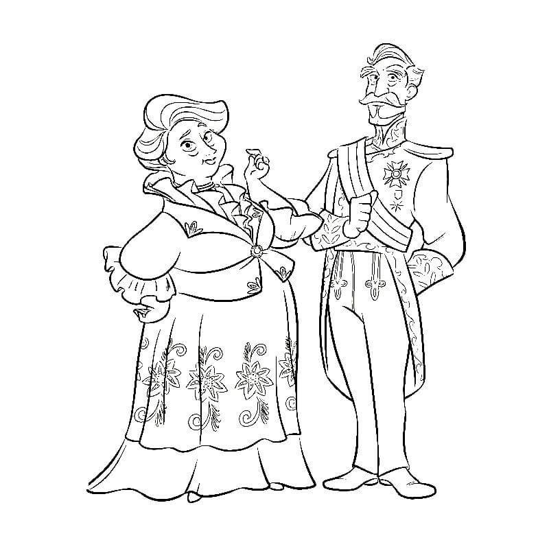 Раскраска бабушка Луиза и дедушка Франциско