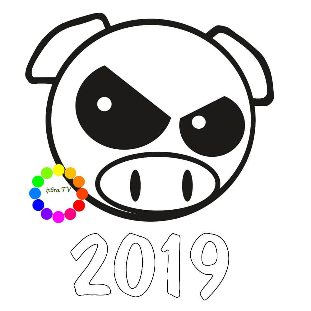 Раскраска свин из Энгри Бёрдз 2019