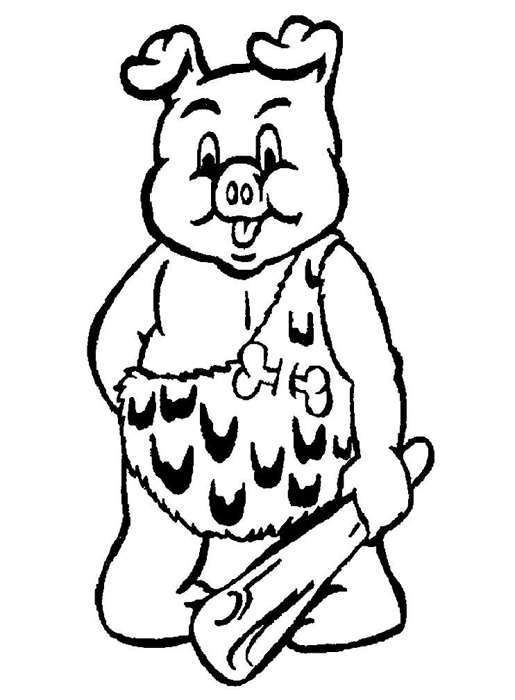 Раскраска первобытная свинья