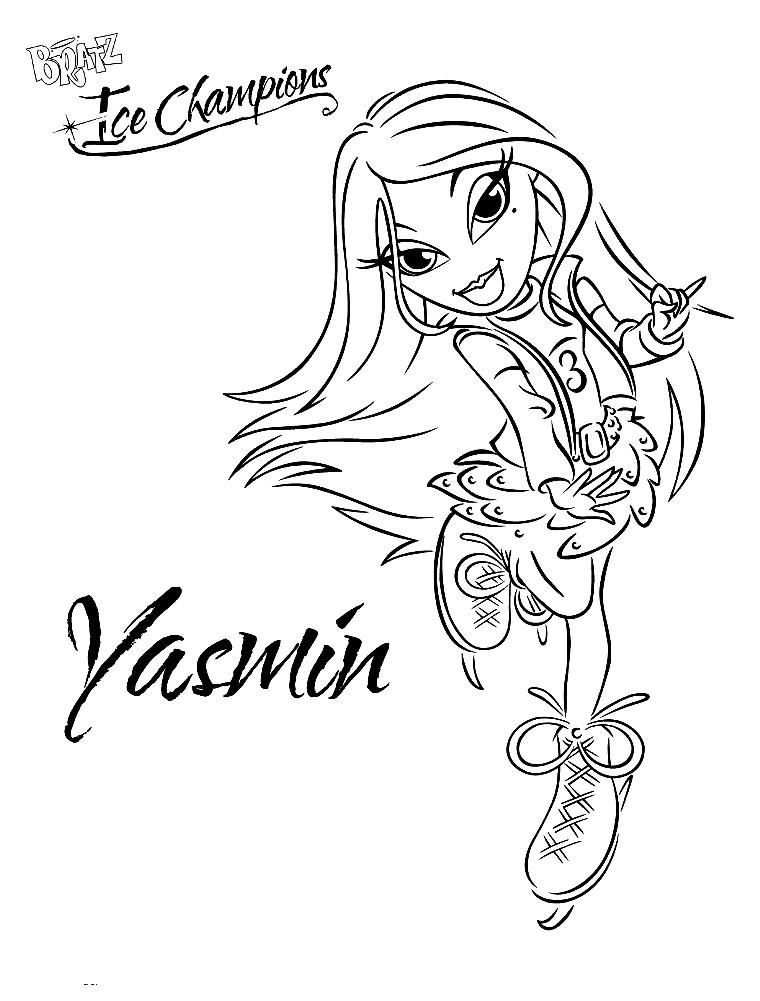 Раскраска Жасмин