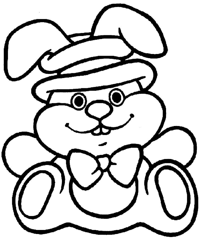 Раскраска заяц для малышей