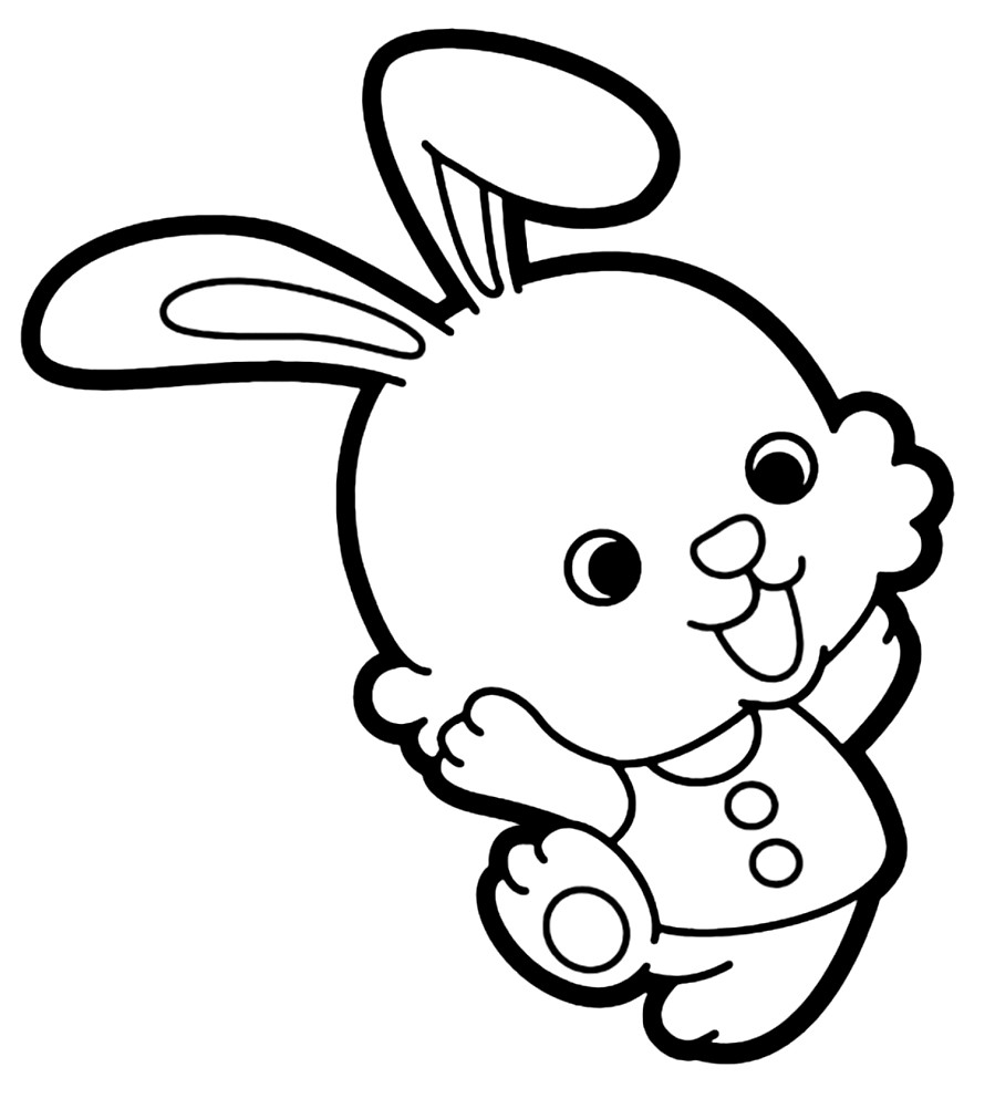 Раскраска зайчонок