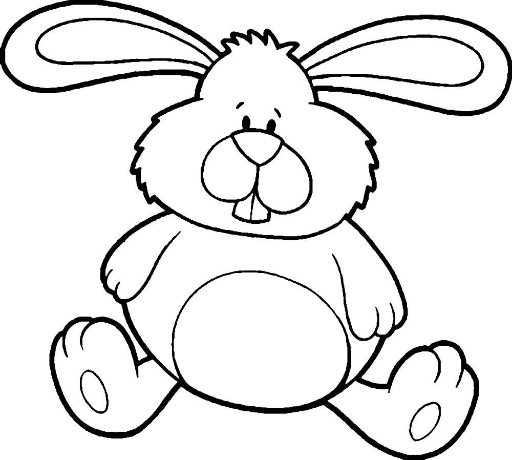 Раскраска плюшевый заяц