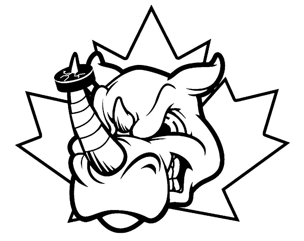 Раскраска голова носорога