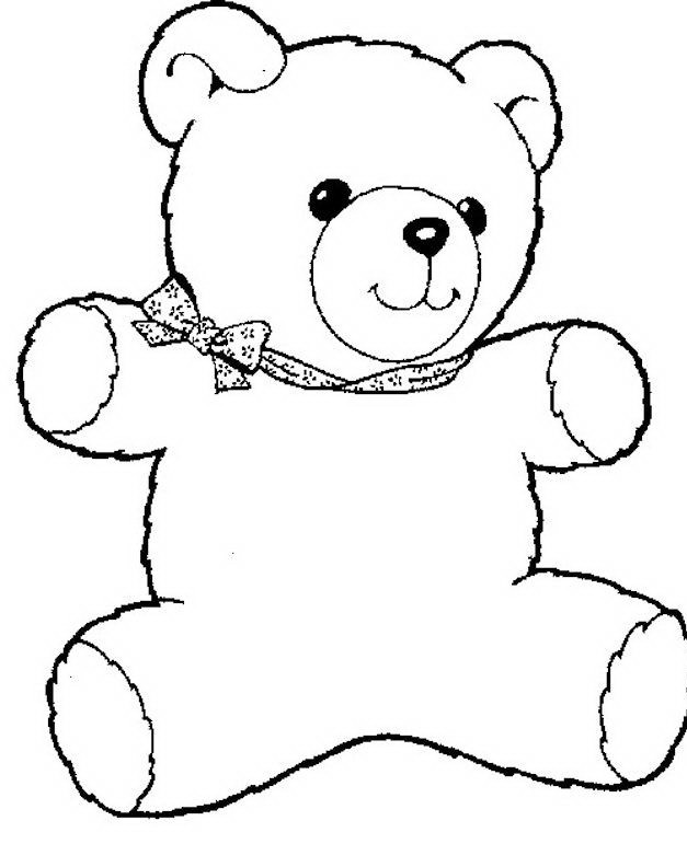 Раскраска милашка Тедди