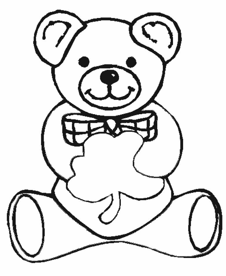 Раскраска лакомка Тедди