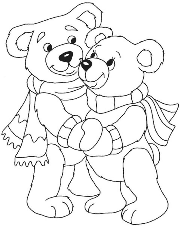 Раскраска Тедди с младшим братиком