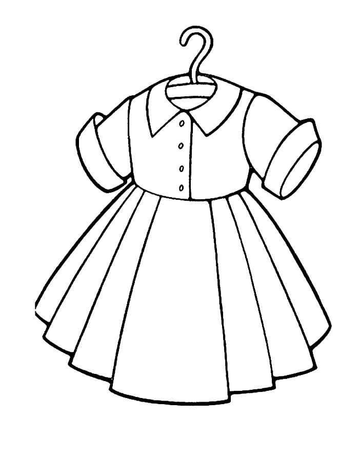 Раскраска платье для девочки