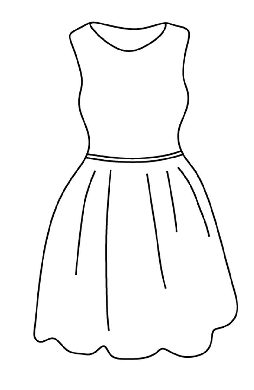 Раскраска легкое платье