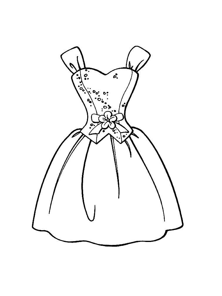 Раскраска платье на выпускной вечер