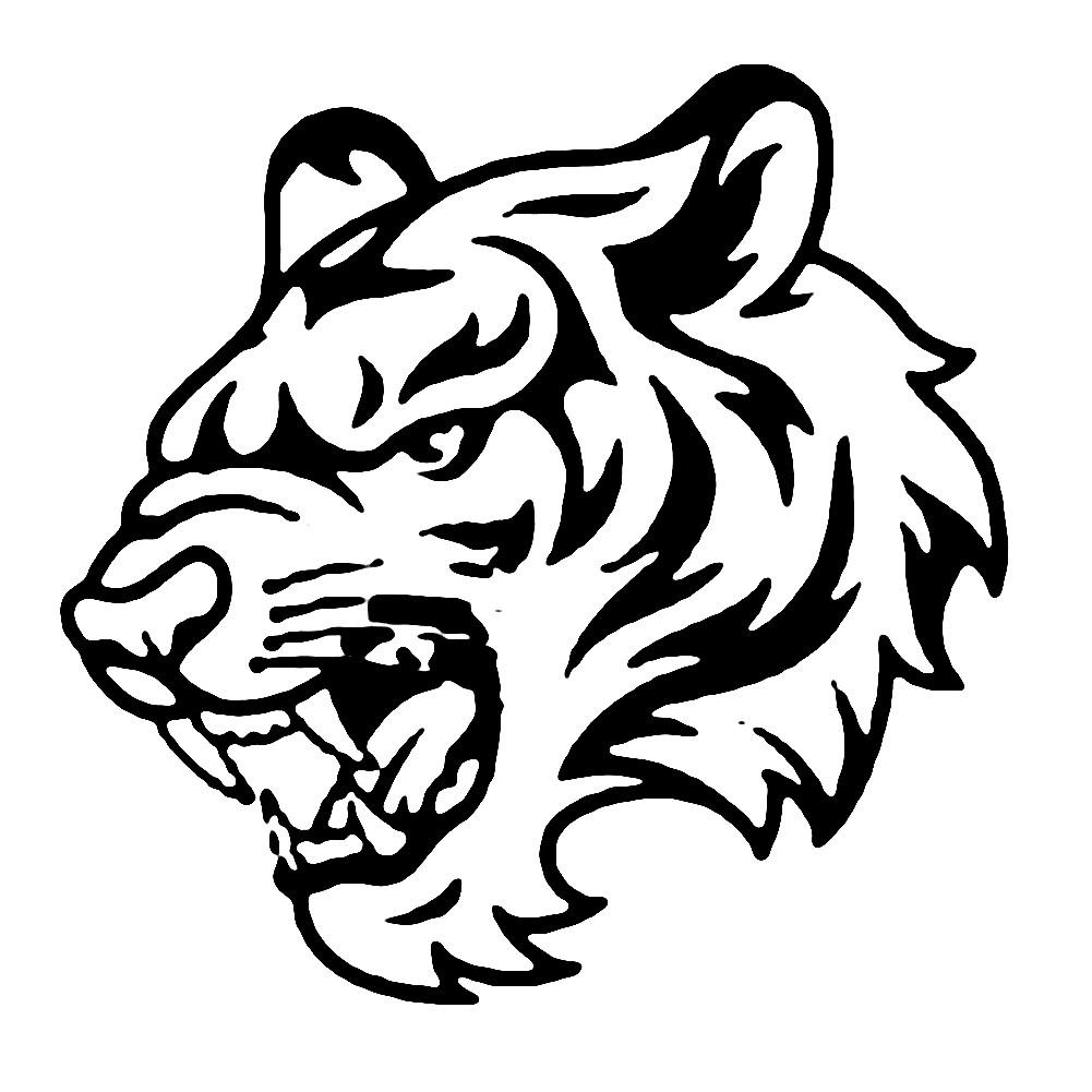 Раскраска логотип тигра