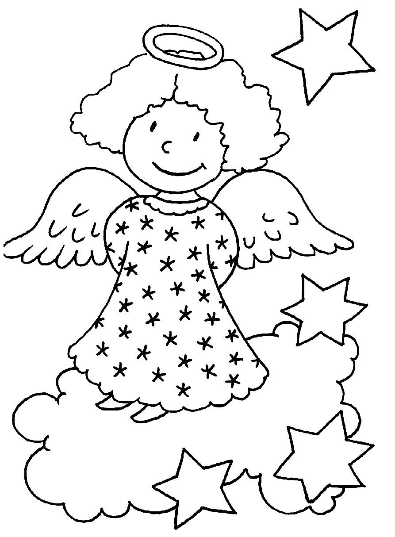 Раскраска ангелочек добрых снов