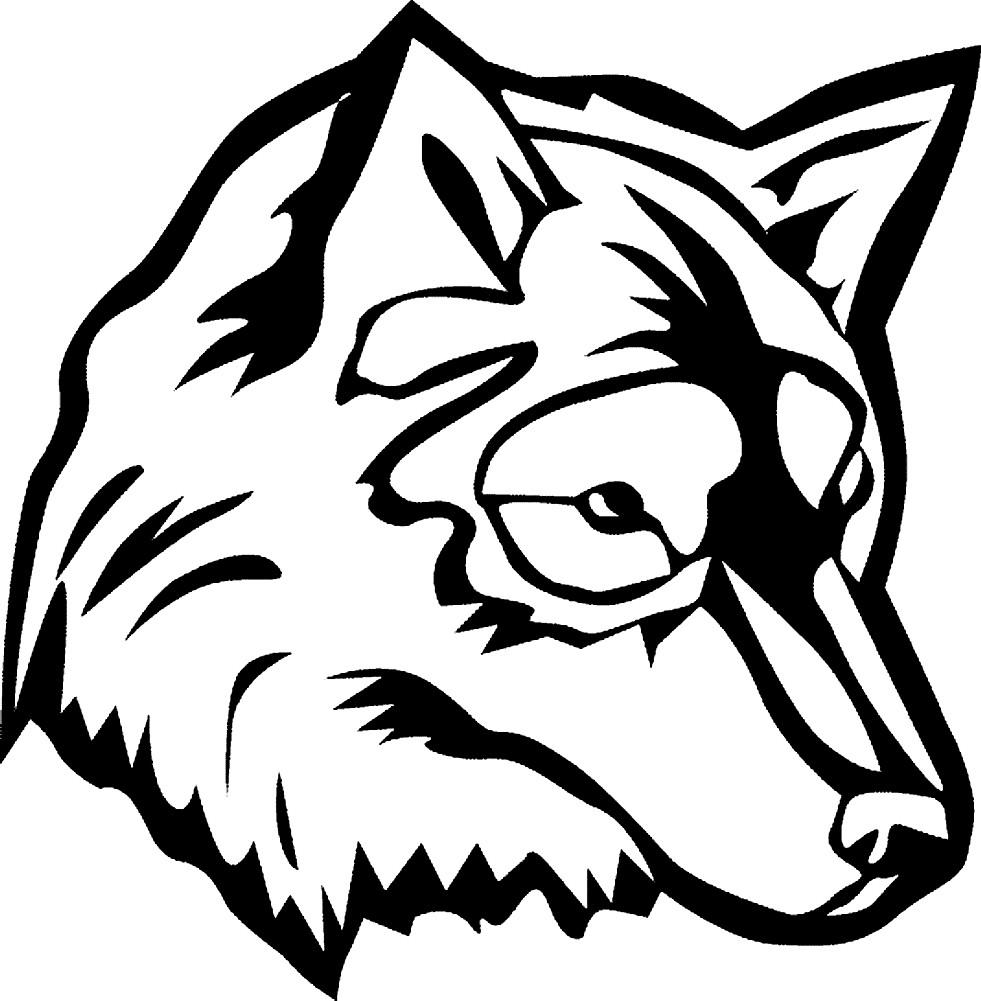 волк раскраски для детей распечатать бесплатно в формате а4