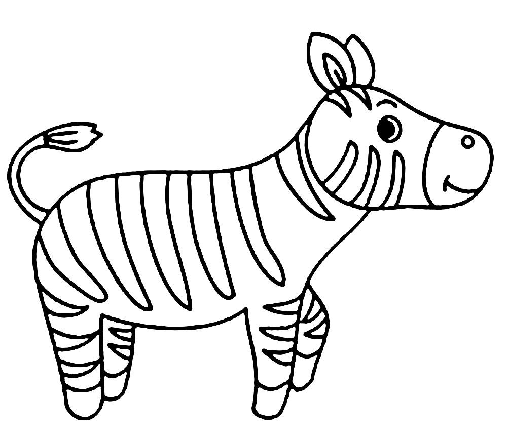 Раскраска зебра из пластилина