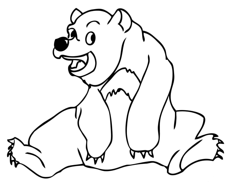 Раскраска добрый медведь